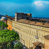 Looking at the Vatican from Saint Peters in Rome Italy