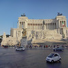 Little Car in Foreground is Easy to Park in Rome Italy