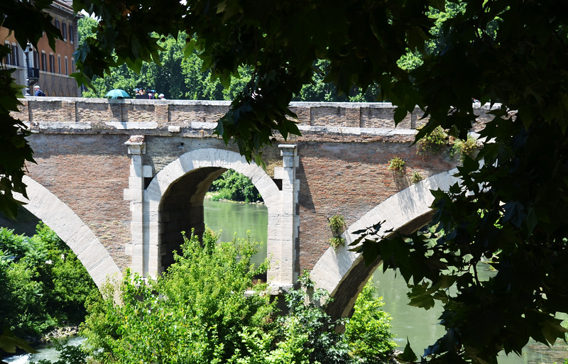 Beautiful Old Bridge in Rome Italy