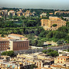 Looking at Rome From the Top of St Peters Basilica in Rome Italy 2