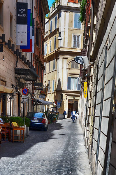 Shopping Street in Rome Italy