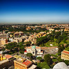 Looking at Rome From the Top of St Peters Basilica in Rome Italy 24