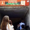 Popular Subway Station in Rome Italy