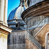 Stairway to the Top of the Dome at Saint Peters Basilica in Rome Italy