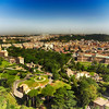 Looking at Rome From the Top of St Peters Basilica in Rome Italy 4