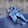 Street Entertainers Near St Peters Basilica in Rome Italy