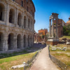 Near Colosseum and Forum in Rome Italy
