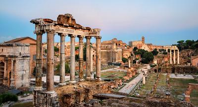 Sunset at the Roman Forum