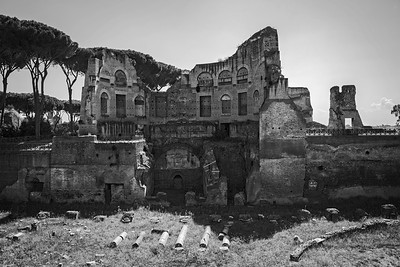 Palentine Ruins Black and White