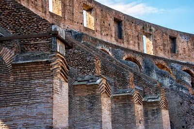 The Roman Coliseum Interior Wall