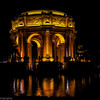 The Palace of Fine Arts--<br /> <br /> The Palace of Fine Arts in the Marina District of San Francisco, California, is a monumental structure originally constructed for the 1915 Panama-Pacific Exposition in order to exhibit works of art presented there.