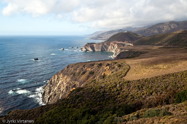 Bixby Bridge from Hurricane Point - Route 1, CA, USA