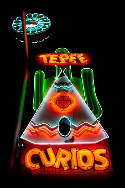 Tepee Curios Neon