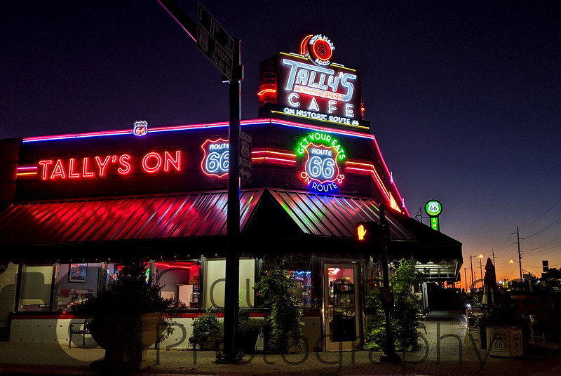 Tally's Cafe at Sunset