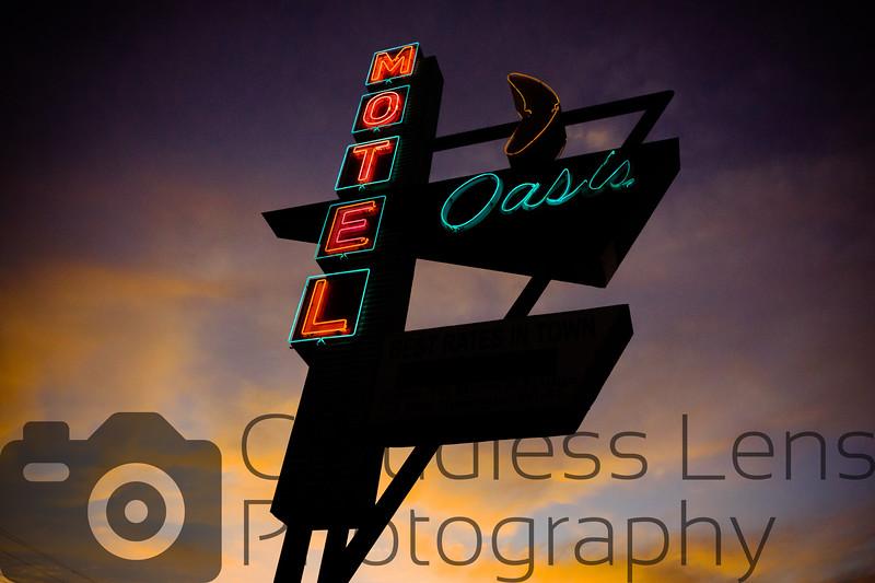 Oasis at Dusk