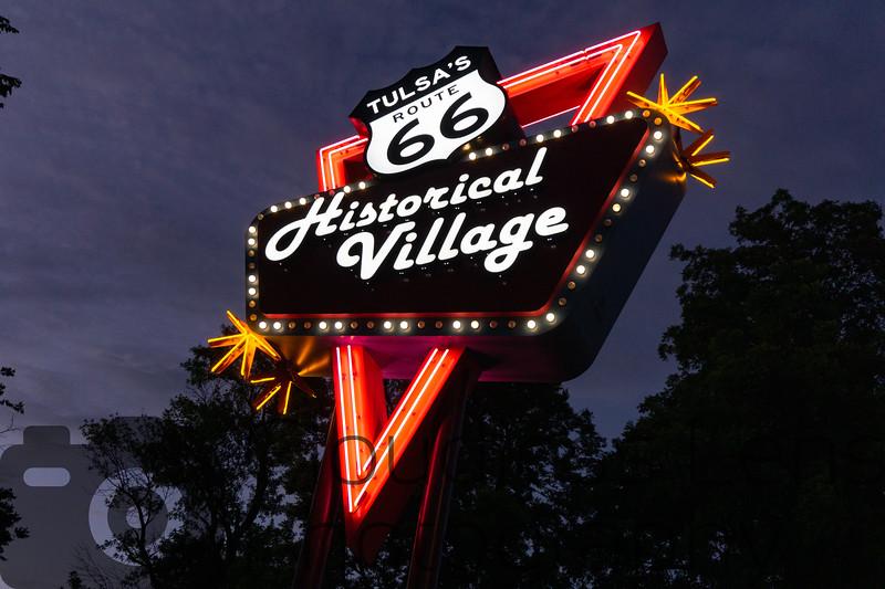 Route 66 Village Sign