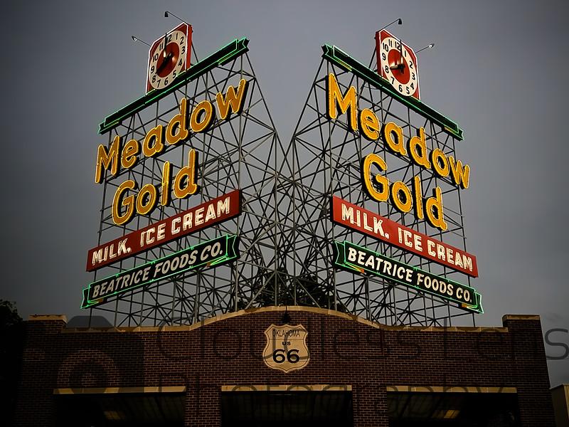 Meadow Gold Clocks