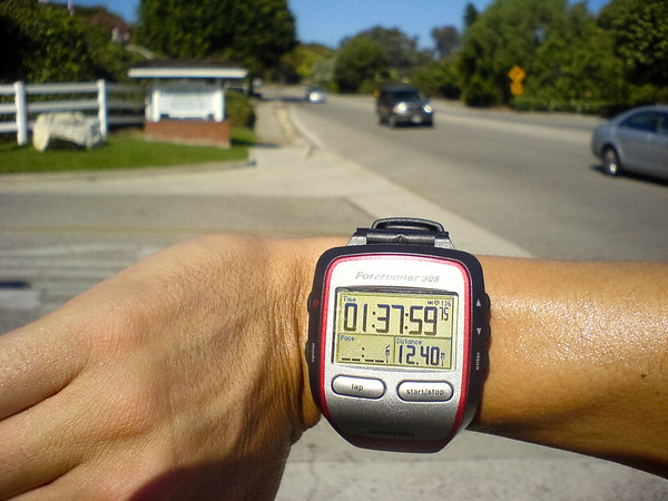 What am I complaining about?  I appear to be on pace for my half marathon PR