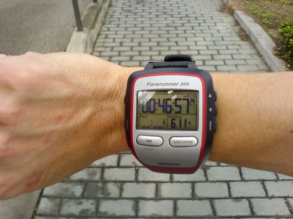 Though I am pacing myself for 21 miles today, I manage a pretty decent 10km split