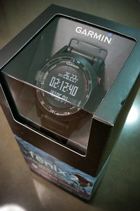 Also just in time for the marathon...a new Garmin watch