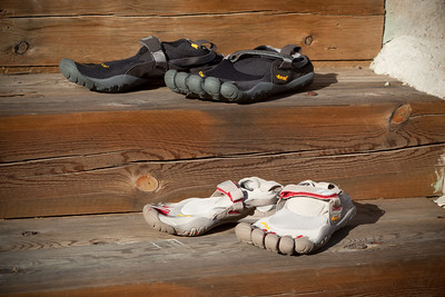 Curiosity finally gets the better of us...Valerie and I have both decided to try Vibram Five Fingers TrekSports