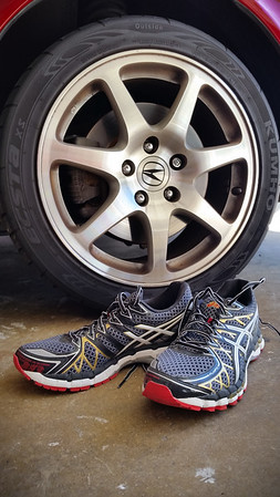 Breaking in a new pair of Kayano 20s ahead of next week's L.A. Marathon