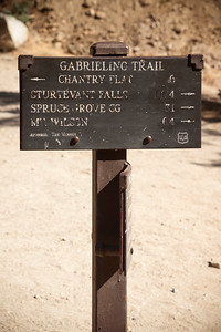 I take photos of the signs for reference in case we get lost (note: I did not know at the time that the trail we would be hiking upon was NOT listed upon THIS sign)