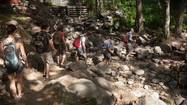 Stream crossing (Valerie, Adam, Ben, Kirk, Angela, Jeff)