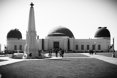 Griffith Observatory with no color