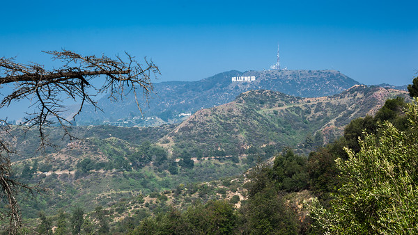 So we CAN see the Hollywood Sign from up here