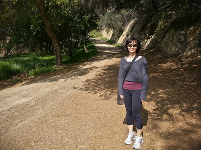 For my optional 1-2 mile workout, I decide to take Valerie hiking in Griffith Park