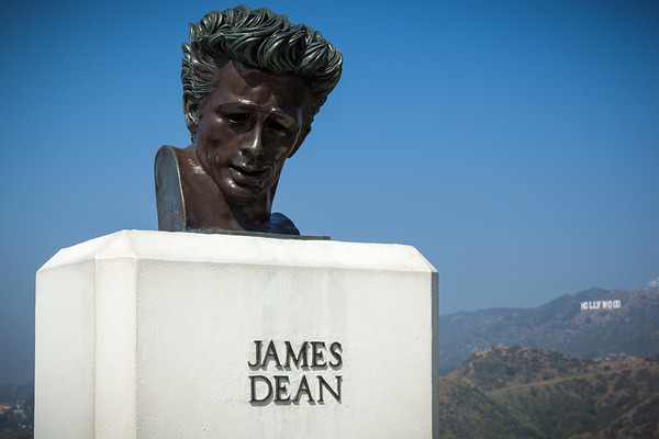 James Dean and the Hollywood Sign