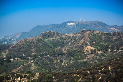 The Hollywood Sign with enhanced contrast and color