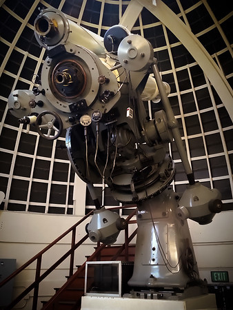 We walk inside one of thedomes, but this is as close to the telescope as we are allowed to go