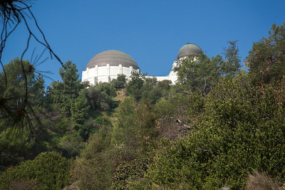 I have not visited the Griffith Observatory since I ran cross country meets on trails near here in high school.  This is Valerie's first time in Griffith Park.