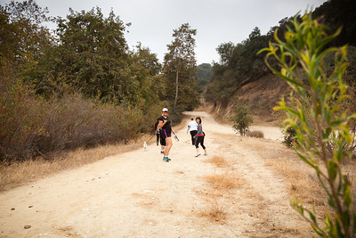 Hiking into Griffith Park from Travel Town