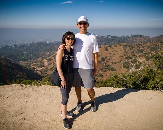 Valerie and I on Hogback Trail near Dante's View (Photo by Heidi Denecke)