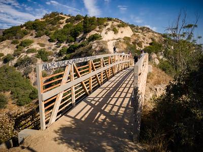 Bridge on Hogback Trail (facing northwest) after passing by Glendale Peak