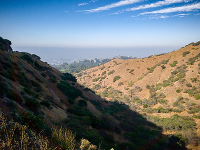 Looking south into the canyon from the bridge.  I imagine that we would be able to see Palos Verdes on a clear day