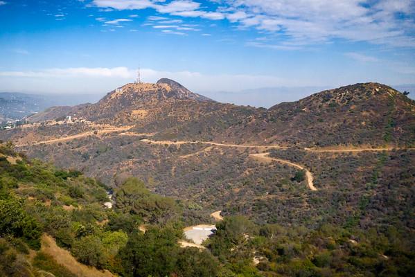 The Hollywood Sign and Cahuenga Peak