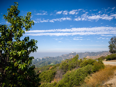 As we continue along Vista Del Valle Drive, Griffith Park Observatory comes into view