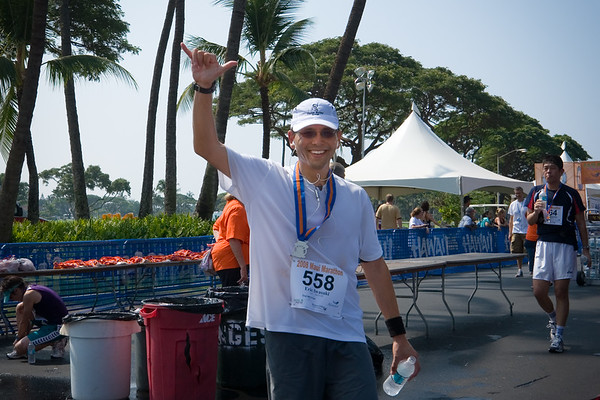 Valerie catches up with me after I cross the finish line (Photo by Valerie)