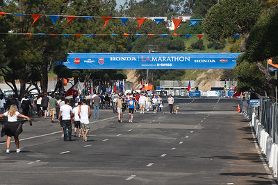 ...and the starting area for the 25th Los Angeles Marathon!