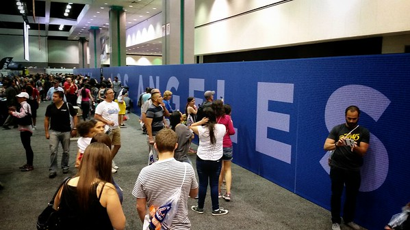 The expo has a wall of fame featuring the names of every registered runner participating in this year's marathon