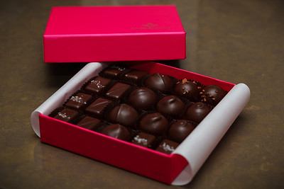 Oooh...dark chocolate truffles and salted caramels!