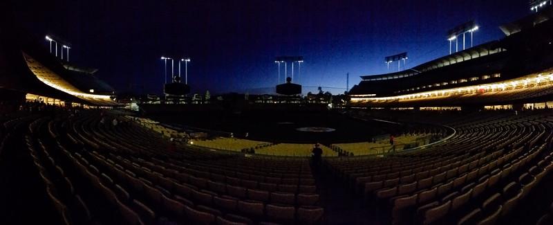 Dodger Stadium in the dark (Smartphone Panorama)