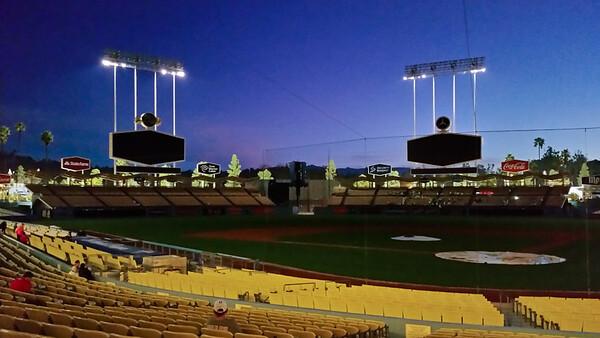 Dawn at Dodger Stadium