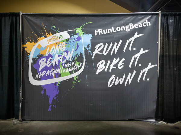 I arrive at the Long Beach Convention Center, site of the Jet Blue Long Beach Marathon Health and Fitness Expo