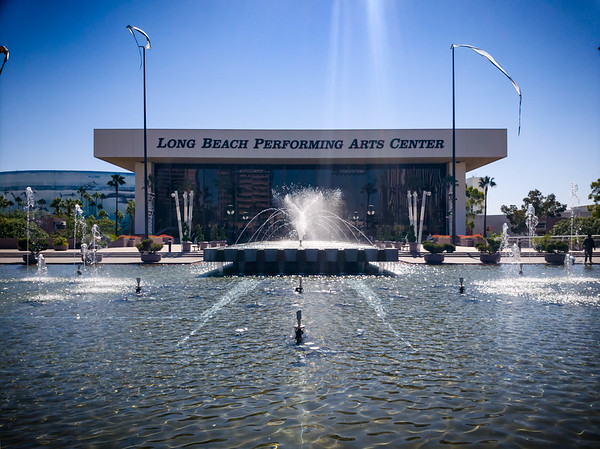 Not exactly an ideal time to take a photograph of the Long Beach Performing Arts Center