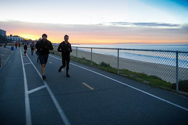 David Ballard and Shamil Rasizade reach Will Rogers State Beach